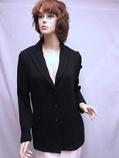 St John Knit COLLECTION Black Princess JACKET With Ribbed Sleeves SZ 8