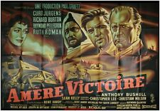 AMERE VICTOIRE Affiche Cinéma GEANTE / WIDE Movie Poster RICHARD BURTON