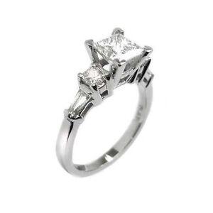 1.99 PRINCESS CUT DIAMOND ENGAGEMENT RING 950 PLATINUM