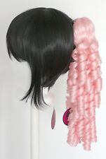 18'' Ringlet Curly Pony Tail Clip Cotton Candy Pink Lolita Wig Clip Only NEW