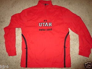 Utah Utes Swimming & Dive Team Under Armour Pullover Jersey SM S