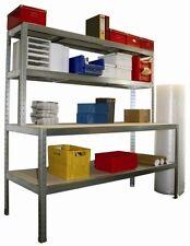 Packtisch Arbeitstisch 2000x800 mit 2 Regalböden - 200/400kg Tragkraft - NEU!