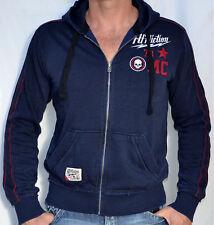Affliction Black Premium SPIN OFF Fleece Jacket - Hoodie - NEW - 110OW001 - Navy
