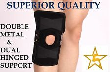 Double Metal Hinged Full Knee Support Brace Protection Arthritis Injury Sports