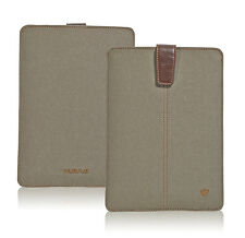 Apple iPad Case Khaki Cotton Screen Cleaning Antimicrobial Sleeve/Pouch