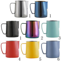 Milk Pitcher Stainless Steel Cup Frothing Pitcher Jug Coffee Latte 600ml
