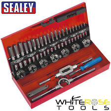 Sealey Tap and Die Set 32pc Split Dies Metric M3-M12 Alloy Steel Thread Repair
