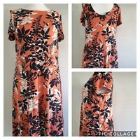 Marks and Spencer Floral Dress Size 14 Bnwt (K1)