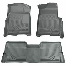 Husky Liners WeatherBeater Floor Mats-3pc- 98382- Ford F250 Crew Cab 08-10- Grey