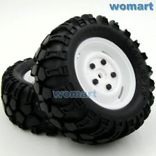 4pcs RC 1/10 90mm 1.9 Tires w/ Hex 12mm Wheels For Rock Crawler Truck Upgrade