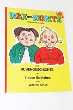 Max und Moritz Eine Bubengeschichte in sieben Streichen - Wilhelm Busch Buch NEU