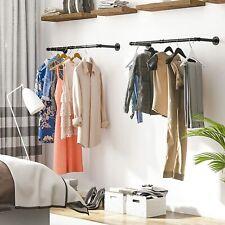 2er Set Schwerlast Kleiderstangen Kleiderständer Garderobe Wandmontage Vintage