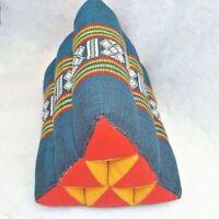 Cushion Bolster Neck Pillow Shaped Triangle Small Fill Kapok Thai Home Decor