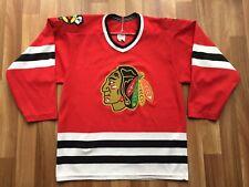 Chicago Blackhawks NHL Vintage First Gen CCM Hockey Jersey Men's SMALL VG+