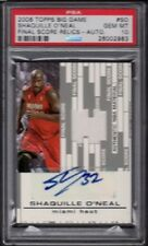 2006-07 Shaquille O'Neal Topps Big Game Final Score Relic Auto Graded PSA 10 Gem
