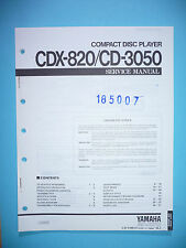 Service Manual-Istruzioni per Yamaha cdx-820/cd-3050, ORIGINALE