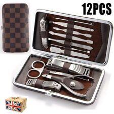 12pcs Nail Care Cutter Kit Set Cuticle Clippers Pedicure Manicure Tool UK STOCK