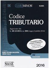 Codice Tributario Ediz. Minor