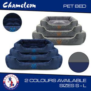 Premium super soft pet dog bed  - 3 Sizes S M L -  2 colors- blue- grey