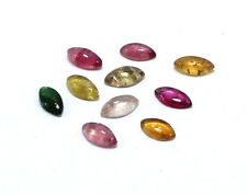 Wholesale Lot 10 Piece Natural Gemstone Tourmaline Marquise 7X4mm Cabochon S424