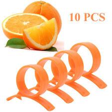 10pcs Plastic Citrus Fruit Orange Lemon Skin Remover Opener Peeler Slicer