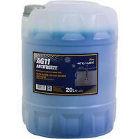 20 Liter MANNOL Kühlerfrostschutz Typ G11 Longterm Antifreeze AG11 -40°C blau
