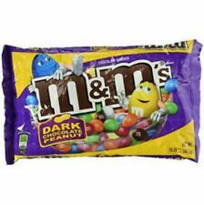M&M's Dark Chocolate Peanut Candy Bag 19.2oz