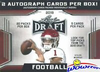 2019 Leaf Draft Football HUGE Factory Sealed 20 Pack Blaster Box-2 AUTOGRAPHS !