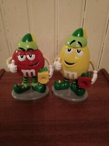 2 M&M's ELF's Sweet/Candy Dispensers