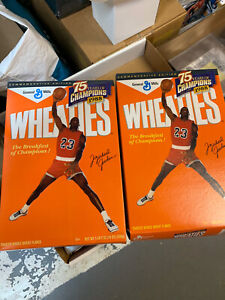 Lot Of 2 1998 Wheaties MICHAEL JORDAN 75 Years of Champions Cereal Box Bulls