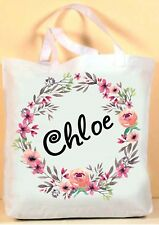 PERSONALISED GIRLS / WOMENS SHOPPING / SHOPPER TOTE BAG - ANY NAME , GREAT GIFT