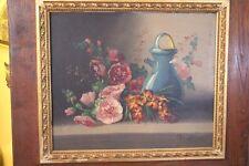 Tableau huile sur toile Nature morte fin XIXe début XXe à la chevrette Vernet