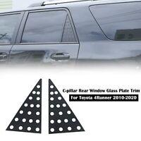 Alloy C-pillar Triangular Window Glass Plate Trim For Toyota 4Runner 2010+