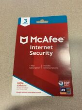 McAfee Internet Security 2020 Antivirus Software 3 Device Password 1 Yr Key Card