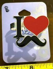 Claires Claire'S Ajustable Ring I Love Bigote Dble fnger Joyería Rrp £ 4.50