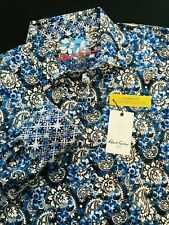 Robert Graham Blue Paisley Long Sleeve Classic Fit Shirt $198