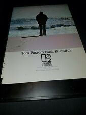 Tom Paxton The Things I Notice Now Rare Original Promo Poster Ad Framed!