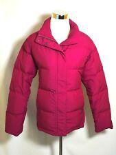 L.L. Bean M Medium Petite Women's Jacket Pink Puffer Lined Goose Down Pockets