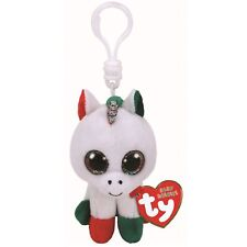 Ty Beanie Babies 35218 Boos Candy Cane the Christmas Unicorn Boo Key Clip