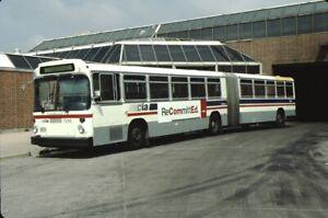 CTA Chicago Transit Authority Man bus Kodachrome original Kodak Slide