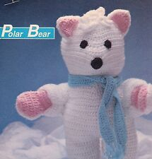 CUDDLY Polar Bear/Toy/ Crochet Pattern INSTRUCTIONS ONLY
