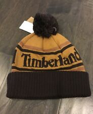 Timberland Winter Beanie Pom Cap Hat New Wheat One Size Men's Acrylic Brown New