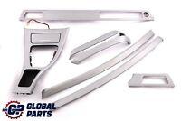 BMW 3 Series 4 E90 Set Cover Dash Trim Strip Aluminium Glacier Silber