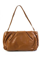 Folli Follie Womens Faux Leather Ruched Small Shoulder Handbag Camel Brown