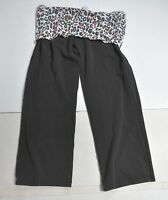 Woman VICTORIA'S SECRET PINK Multi-Color Yoga Pants Black Crop Jr Size Small S