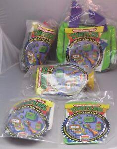 Vintage TMNT Teenage Mutant Ninja Turtle 1993 Burger King Kids 5 piece bike set