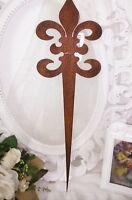 GartenLilie Beetstecker s Edelrost Metall Blumen beet deko Landhaus 47cmx15cm