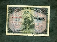 BILLETE 50  pesetas 1906  C 1593099  MBC +
