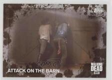 2016 Topps Walking Dead Season 5 Mud #62 Attack On The Barn /50 Card 1p5