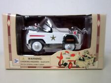 Golden Wheel Pedal Power POLICE CAR 1:10 Scale Enameled Diecast Metal 43401